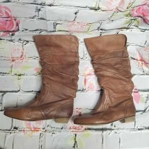 Steve Madden Candence Cognac Slouchy Boots 10